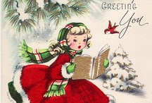 Vintage Christmas Cards / Just the cutest ones!!