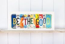 Unique Pl8z / Our team of military veterans and military spouses hand craft art pieces designed for people who love to travel. We use carefully curated expired license plates from all over the United States to create personalized, thoughtful gifts and accessories.