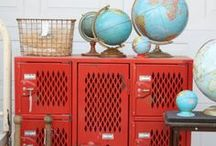 Travel the Globe / gorgeous globes and fun ways to decorate your home with them