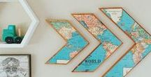 Map it out / great ways to repurpose maps and fun ways to decorate with them.