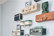 Decorating with Vintage Suitcases / fun ways to spruce up your space with vintage suitcases