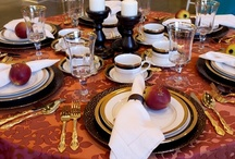 """Get the Look"" Thanksgiving Table-Cinnabar Spade / Thanksgiving Holiday Table-Create this look."