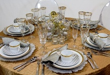 """Get the Look""  Silver & Gold Holiday Tablescape / Create this look!!"
