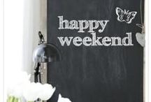 [ Chalkboard paint + interior ] / ♥ Feel free to pin as many as you like ♥