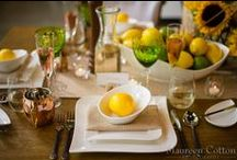Design Table-July-Artistry Boston {yellow} {lime} {rustic} / Table Designed by Artistry Boston Photography by Maureen Cotton Photography All Rental Items from Peterson Party Center