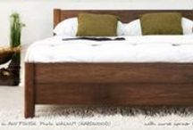 Walnut Beds and Furniture / A collection of walnut beds and walnut things