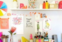 Workspace / by Lauren @ A Lovely Lark