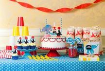 Fiesta circo / Circus party / Ideas para una fiesta circo, ¡divertida para todas las edades! Para fiestas infantiles, fiestas de mayores, comuniones, bodas... / Ideas for a circus party, fun for all ages! Ideal for kids' parties, adult parties, first communions, even weddings... / by FIESTAFACIL
