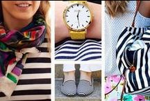 Seaside -  Apparel and Accessories / #Nautical apparel. Things to wear at the #beach! ~A style I always loved and always will. #Jewelry, #fashion, #accessories and more.... / by Pascale De Groof