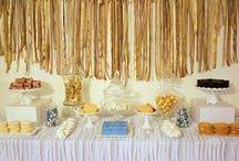 Fiesta dorada / A gold party / Una fiesta muy elegante, idónea para cumpleaños especiales, aniversarios, Navidad, Nochevieja... / An elegant party, ideal for special birthdays, anniversaries, Christmas, New Year... / by FIESTAFACIL