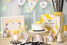 Fiesta abeja / Bumble bee party / Ideas para una fiesta abeja: original, dulce, tierno... Idóneo para un baby shower, una fiesta infantil, una fiesta comunión... / Ideas for a bumble bee party: original, sweet and lovely... Ideal for a baby shower, a birthday party, a first commuion party... / by FIESTAFACIL