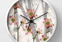clocks / wall clocks from my paintings and designs