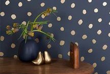 Decorating - Dots - Spots and Gold / Mix-and-Match #Furniture, #Decor & #Accents ~ #home #interior #decorating #tips #DIY ~ #dots #spots #White #gold #black #silver #brown / by Pascale De Groof