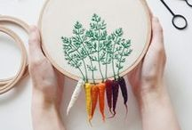 Stitches. / Embroidery
