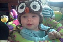 Hats for Visions by Baker / Newborn Hat Designs by Amy Gaines. http://www.facebook.com/pages/Amy-Gaines-Amigurumi-Patterns/102715329772137#!/media/set/?set=a.10150492570793893.376300.51623073892&type=3
