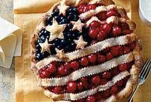 America / Red, white, & blue recipes, outfits, and decorations for Independence Day and other patriotic occasions.