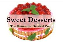 Dessert Recipes / Sweet Dessert Recipes - cakes, cookies, biscuits, gelatins, pastries, ice creams, pies, puddings, popsicles and candies. / by The Homestead Survival