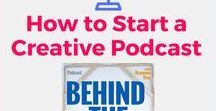 Podcast :: Behind The Canvas - Artist Entrepreneurs / Podcasts & Podcasting resources for Artists & Creative Entrepreneurs.