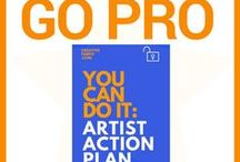 Artist Action Plan:: Essential Guide to Go PRO / Essential tools to take action on your art and creative business and go pro. Prompts to get clear and focused, strategy worksheets, sample budgets, checklists and doodle pages to visualize your ideas.  Get on with it and GO PRO!  DIY Art Business Strategy Action Plan