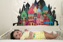 Baby Girl / Wish list/ ideas for our girl, Penny.  Nursery theme: worldly travel/ peace/ world peace  gender neutral, grey, white, and accents of bright colors.