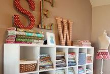 Dream House - Sewing Room / craft storage / by Tina