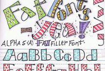 Letters versieren
