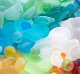 sea glass / sea glass as we find it and the things we do with it