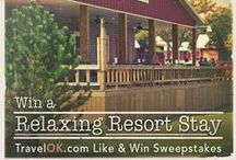 Oklahoma Tourism Contests / Keep on eye on this board for the latest contests and prize packs up for grabs on TravelOK.com. You could win a cabin stay at one of Oklahoma's scenic state parks or a free dinner at an upscale restaurant in the Sooner State. Click on the pins, follow their links and enter to win. / by TravelOK.com