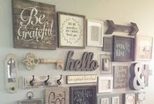 Gallery Walls / Photo, lettering, and art inspiration for wall decor and gallery walls