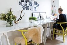 Home // Office / Inspiration for creating the perfect work space at home.