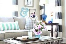 Living Spaces / Living room and family room décor inspiration