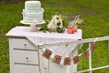 Antique Vintage Wedding / Antique Vintage Wedding Photo Shoot at Dudley Farm.  Cake by kbkakes.com
