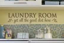 Scrub a dub dub / Laundry room decor ideas, clever ways of dealing with laundry room organization and pictures of stuff I like.