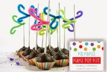 """KB's Kake Pop Kit (DIY Cake Pops) / KB Kakes has created a kit complete with everything you need to make your own """"KB's kake truffle"""" pops at home.  This DIY Kit includes a cake base so there is no baking required and no extra ingredients needed.  You can make 12 cake pops out of this fun Sweet Party in a Box  Order yours today through KB Kakes at: kbkakes.com"""