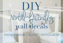 Rental-Friendly Decor & DIYs / Only the best decor & DIY ideas for rentals.  Be Content to Rent!
