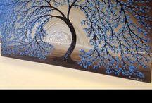 ADW Palette Knife Tree paintings / Original paintings by ADW Angela Williams / by Angela Williams