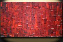 ADW original abstract paintings Palette Knife Textured Painting / Modern abstract fine art / by Angela Williams