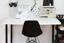 Craft Room/Home Office / Craft room / home office and studio inspiration. Products, organization, small business advice and resources.  / by Lidia Kuzmanovski
