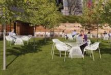 Outdoor Work Environments / Extend collaboration outdoors with beautiful outdoor work environments that put employees at ease.