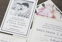 Smock Invitations / Smock is a national brand we carry. Their thick bamboo papers take quality to a whole new level. Choose from hundreds of letterpress, foil and blind embossing designs.