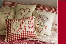 be my valentine * pillows / by Kathy Boenig