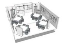 Education Thought Starters / Design ideas for classrooms, computer labs, lounges, and collaborative spaces for colleges, dorms, and schools.
