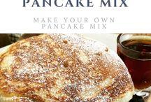 Recipes | Pancakes and waffles / Pancake recipes | waffle recipes | fluffy American pancakes | Crisp waffles