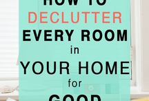 Decluttering and organising tips / Decluttering and organising