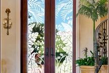 Tropical Oasis / Tropical door and window films transform glass doors, windows and mirrors from ordinary to tropical chic. - See more at: http://www.wallpaperforwindows.com/pc/Tropical-Door-and-Window-Films-c149.htm#sthash.kiOHGvkF.dpuf / by Wallpaper For Windows