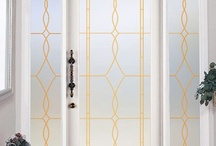 Leaded Glass Doors and Window Film / by Wallpaper For Windows