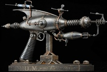 Steampunk - Weaponry  / Ray guns, and all those other weapons with weird and wonderful names...plus lots of inspirational pictures of real and other imaginary weaponry. / by Sandi James
