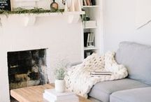 """Living room / """"There is nothing like staying at home for real comfort."""" - Jane Austen"""