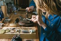 Studio dreaming / Artist art jewellers jewellery studio workshop bench design
