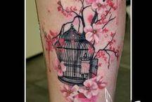 Tattoo wish list - Birds, Cherry Blossoms & Birdcages